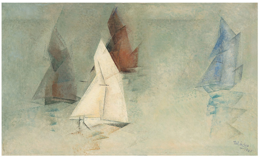 Schiffe im Nebel, 1928