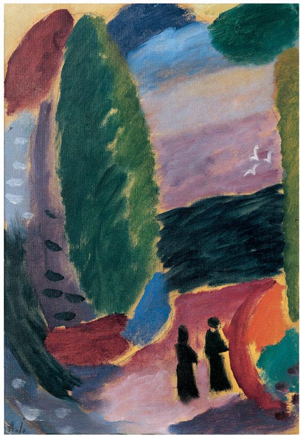 Variation, zwei Figuren im Herbst, 1916
