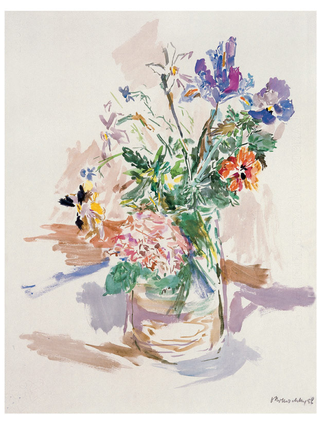 Gartenblumen im Glas, 1959
