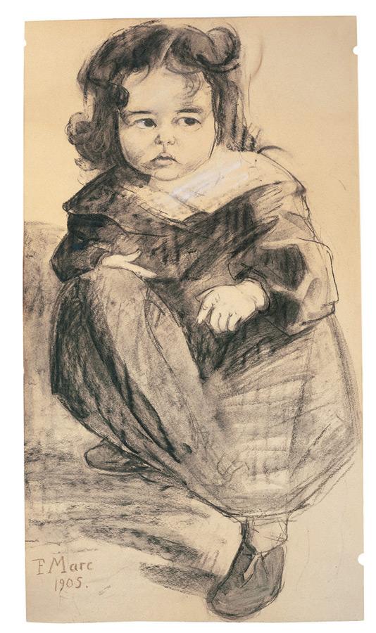 Kleines Mädchen mit weißem Kragen, 1905