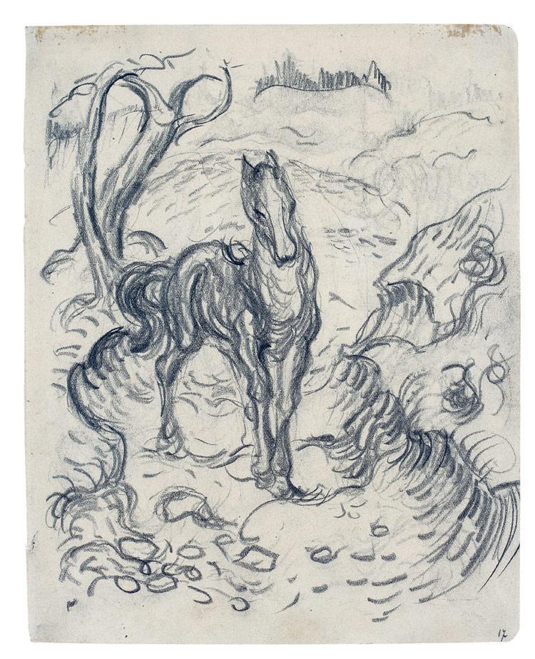 Pferd in Landschaft, 1910