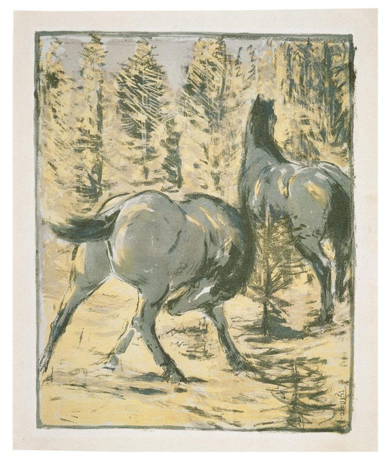 Pferde in der Schwemme, 1908