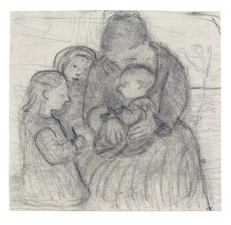 Mutter mit Kindern, um 1903/04