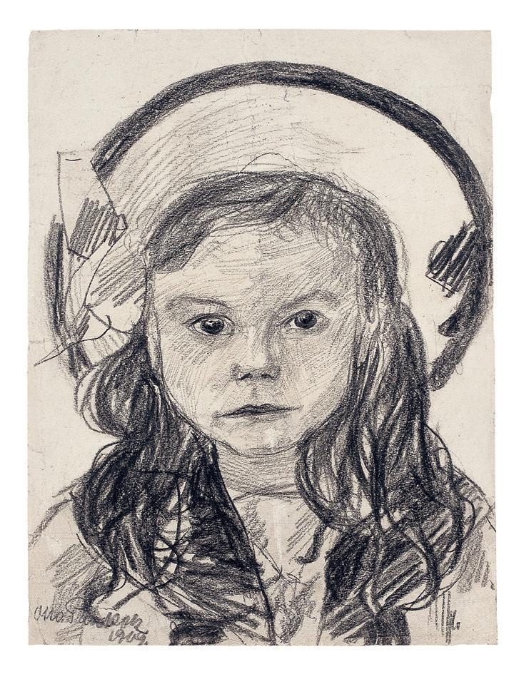 Ruth mit Hut, 1909